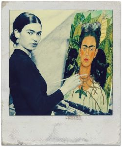 Frida Painting Herself