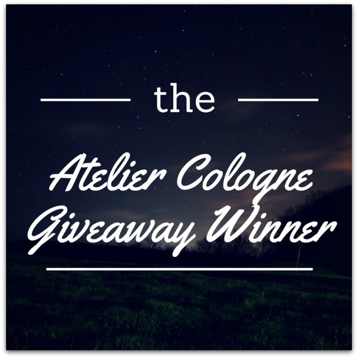 Atelier Cologne Giveaway Winner Megan In Sainte Maxime Blog