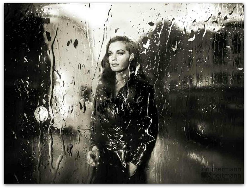 Romy Schneider Rain Megan In Sainte Maxime